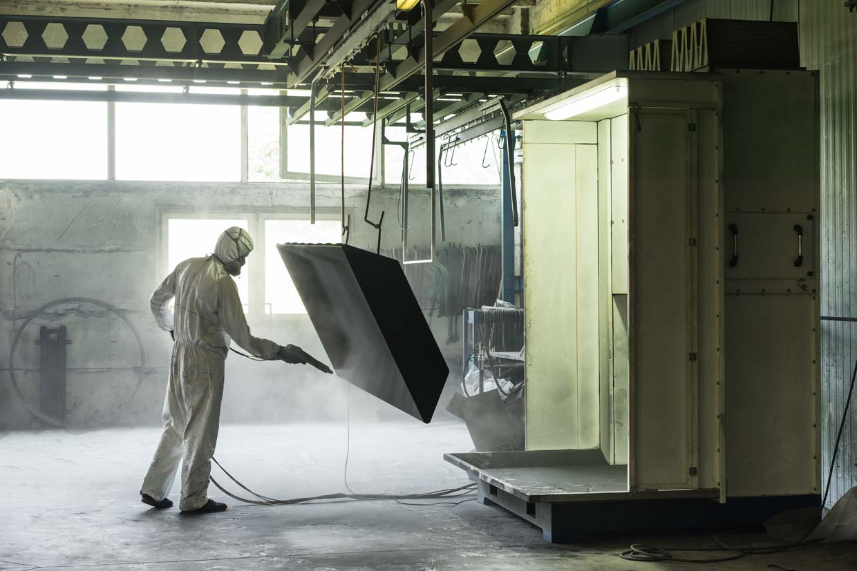 image of powdercoat process