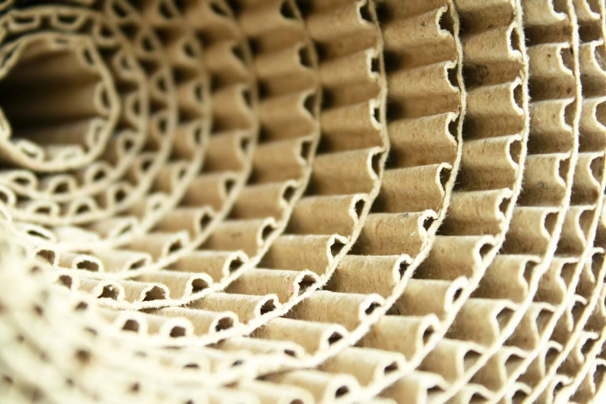image showing some corrugated paper