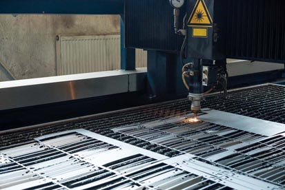 image of a laser cutting machine